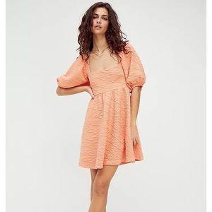 Free People Violet Mini Dress Grapefruit NWOT